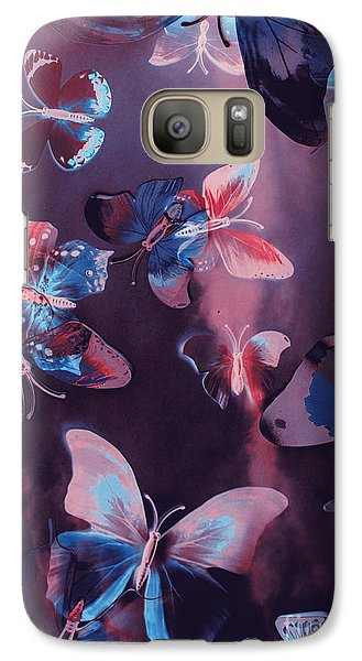 Fairy Galaxy S7 Case - Artistic Colorful Butterfly Design by Jorgo Photography - Wall Art Gallery