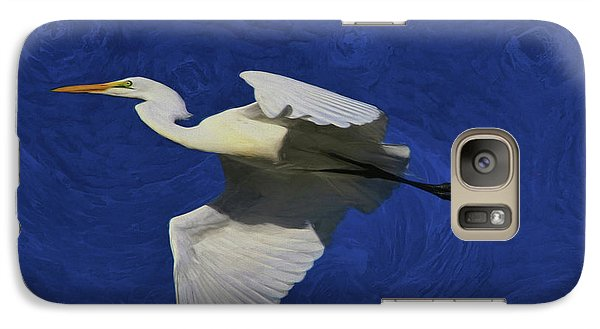 Galaxy Case featuring the painting Artistic Egret by Deborah Benoit