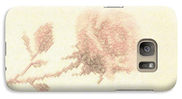 Galaxy Case featuring the photograph Artistic Etched Rose by Linda Phelps