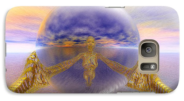 Galaxy Case featuring the painting Artistic Selfie by Robby Donaghey