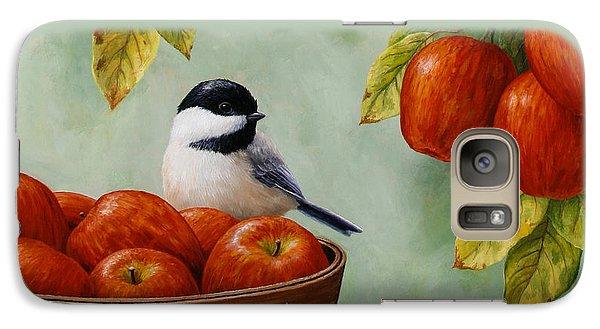Apple Chickadee Greeting Card 1 Galaxy S7 Case