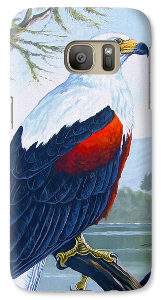 Galaxy Case featuring the painting African Fish Eagle by Anthony Mwangi