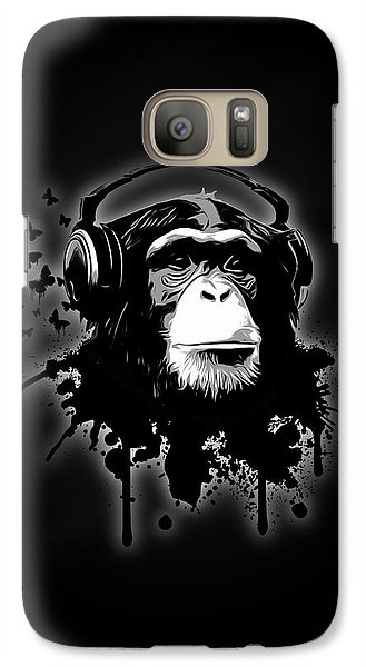 Monkey Business - Black Galaxy Case by Nicklas Gustafsson