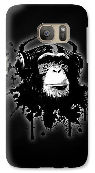 Monkey Business - Black Galaxy S7 Case by Nicklas Gustafsson