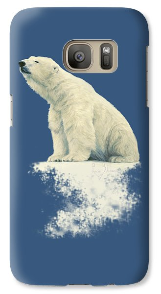 Bear Galaxy S7 Case - Something In The Air by Lucie Bilodeau