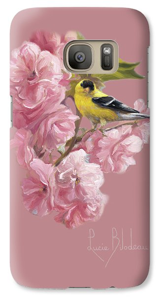 Finch Galaxy S7 Case - Spring Blossoms by Lucie Bilodeau