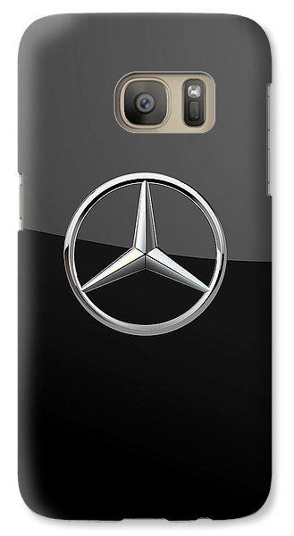 Mercedes-benz - 3d Badge On Black Galaxy S7 Case