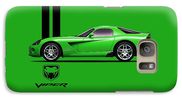 Dodge Viper Snake Green Galaxy S7 Case