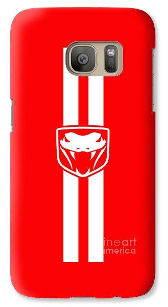 Viper Galaxy S7 Case - Dodge Viper Red Phone Case by Mark Rogan