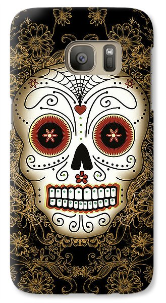 Vintage Sugar Skull Galaxy S7 Case