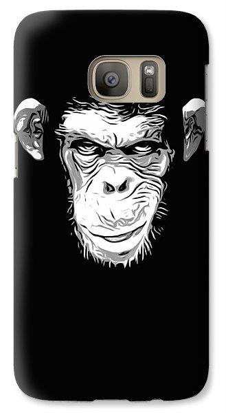 Evil Monkey Galaxy S7 Case by Nicklas Gustafsson