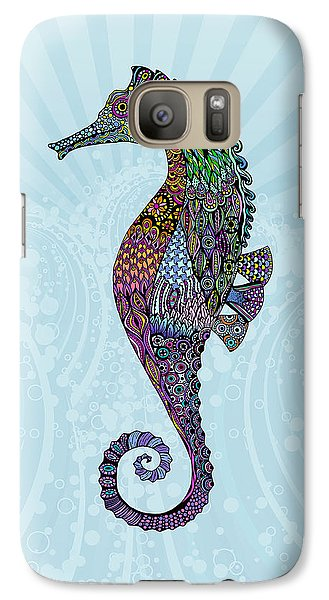 Galaxy Case featuring the drawing Electric Gentleman Seahorse by Tammy Wetzel