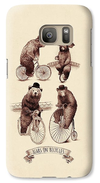 Bears On Bicycles Galaxy Case by Eric Fan