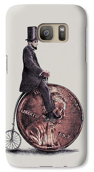 Bicycle Galaxy S7 Case - Penny Farthing by Eric Fan