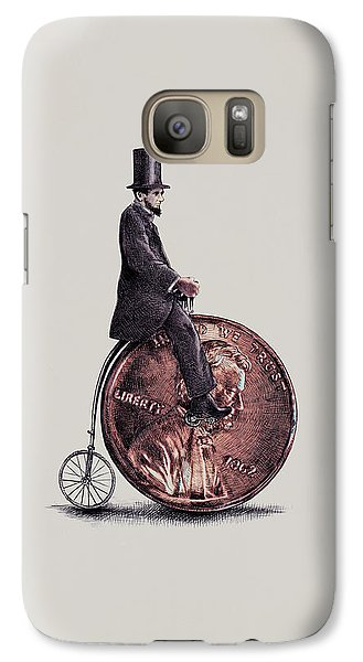 Penny Farthing Galaxy S7 Case by Eric Fan