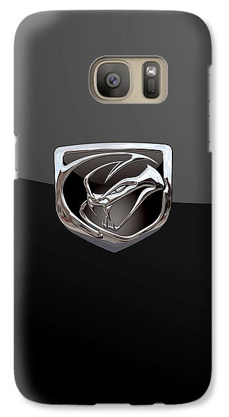 Dodge Viper - 3d Badge On Black Galaxy S7 Case