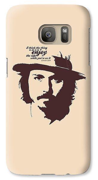 Johnny Depp Minimalist Poster Galaxy S7 Case by Lab No 4 - The Quotography Department