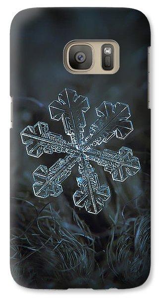 Galaxy Case featuring the photograph Snowflake Photo - Vega by Alexey Kljatov