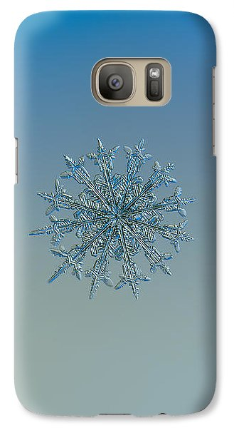 Galaxy Case featuring the photograph Snowflake Photo - Twelve Months by Alexey Kljatov