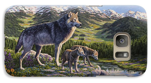Wolf Painting - Passing It On Galaxy S7 Case by Crista Forest