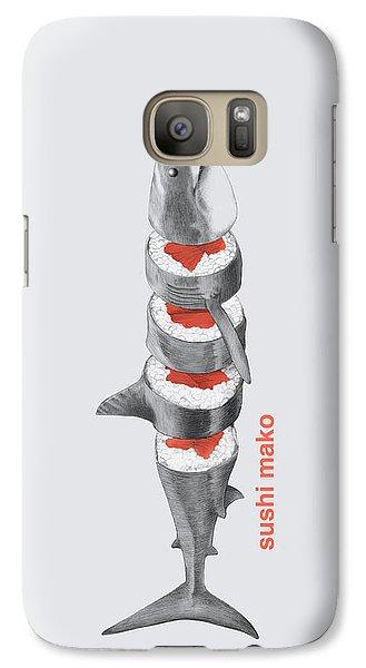 Sushi Mako Galaxy S7 Case by Eric Fan