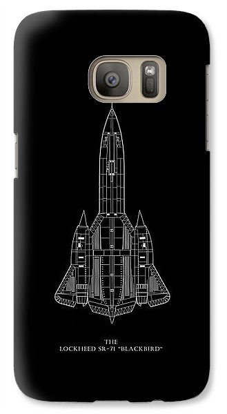 The Lockheed Sr-71 Blackbird Galaxy S7 Case