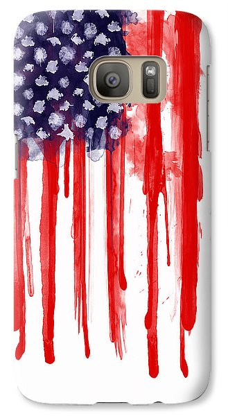 American Spatter Flag Galaxy S7 Case
