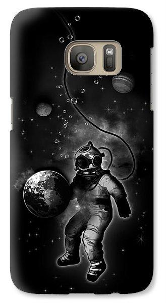 Deep Sea Space Diver Galaxy S7 Case by Nicklas Gustafsson