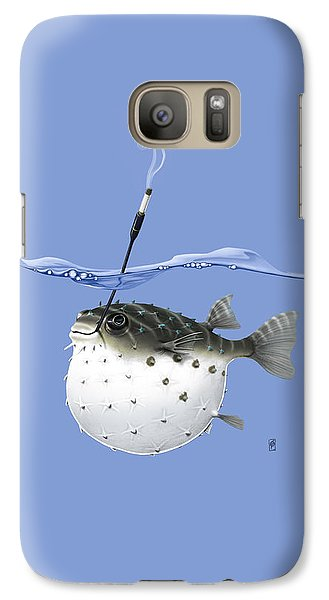 Galaxy Case featuring the drawing Take It Outside Colour by Rob Snow