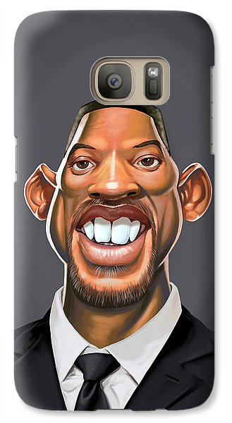 Galaxy Case featuring the drawing Celebrity Sunday - Will Smith by Rob Snow