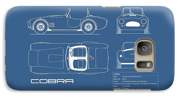 Ac Cobra Blueprint Galaxy Case by Mark Rogan