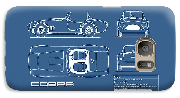 Ac Cobra Blueprint Galaxy S7 Case by Mark Rogan