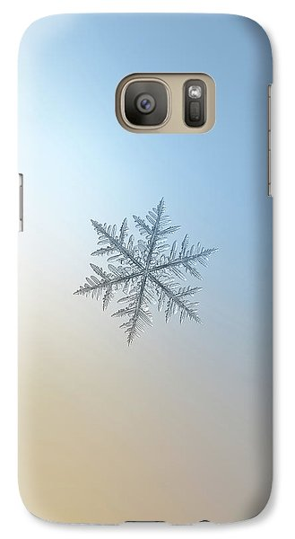 Galaxy Case featuring the photograph Snowflake Photo - Silverware by Alexey Kljatov