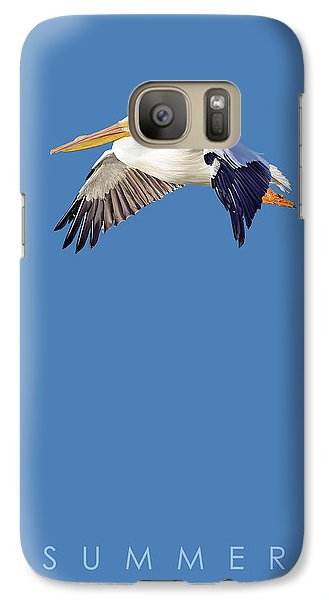 Galaxy Case featuring the drawing Blue Series 003 Summer by Rob Snow