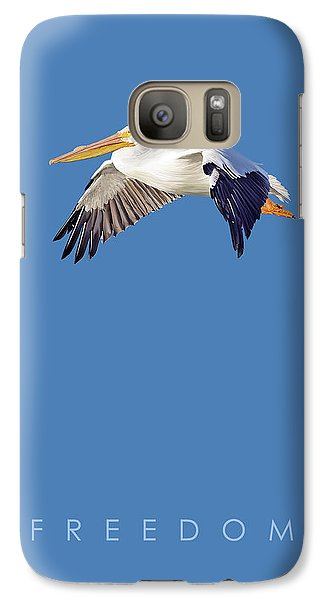 Galaxy Case featuring the digital art Blue Series 003 Freedom by Rob Snow