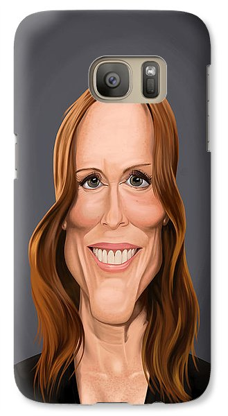 Galaxy Case featuring the drawing Celebrity Sunday - Julianne Moore by Rob Snow