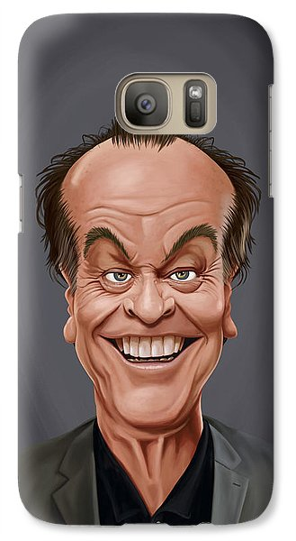 Galaxy Case featuring the drawing Celebrity Sunday - Jack Nicholson by Rob Snow