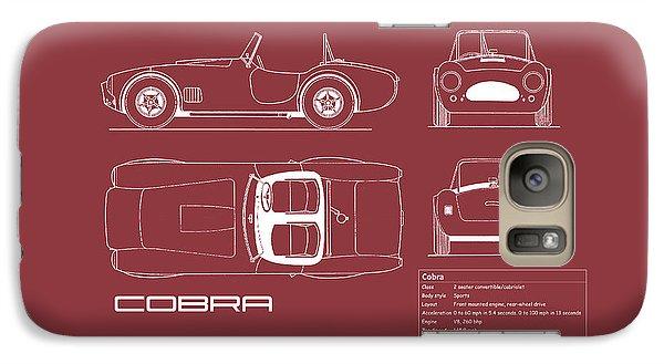 Ac Cobra Blueprint - Red Galaxy Case by Mark Rogan