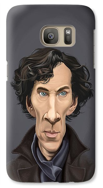 Galaxy Case featuring the drawing Celebrity Sunday - Benedict Cumberbatch by Rob Snow