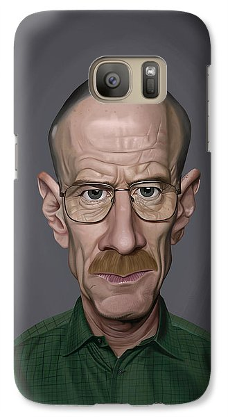 Galaxy Case featuring the drawing Celebrity Sunday - Bryan Cranston by Rob Snow