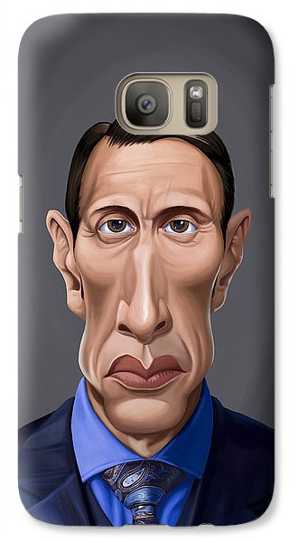 Galaxy Case featuring the drawing Celebrity Sunday - Mads Mikkelsen by Rob Snow