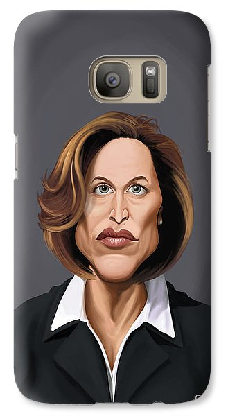 Galaxy Case featuring the drawing Celebrity Sunday - Gillian Anderson by Rob Snow