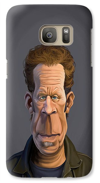 Galaxy Case featuring the drawing Celebrity Sunday - Tom Waits by Rob Snow