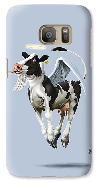 Galaxy Case featuring the drawing Holy Cow Colour by Rob Snow