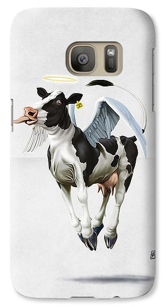 Galaxy Case featuring the drawing Holy Cow Wordless by Rob Snow
