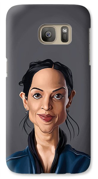 Galaxy Case featuring the drawing Celebrity Sunday - Archie Panjabi by Rob Snow