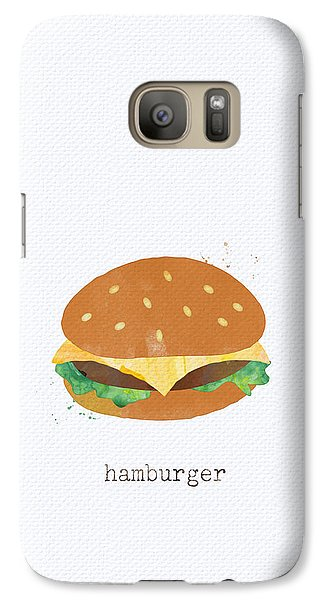 Hamburger Galaxy S7 Case by Linda Woods