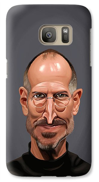 Galaxy Case featuring the drawing Celebrity Sunday - Steve Jobs by Rob Snow