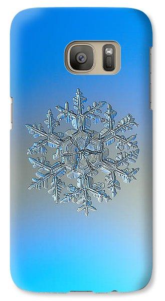 Galaxy Case featuring the photograph Snowflake Photo - Gardener's Dream by Alexey Kljatov