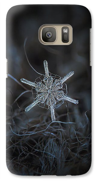 Galaxy Case featuring the photograph Snowflake Photo - Steering Wheel by Alexey Kljatov